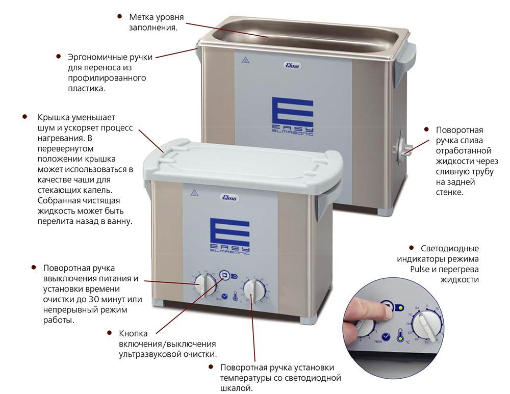 Elmasonic Easy  Настольные ультразвуковые мойки. Самый простой способ УЗ отмывки.